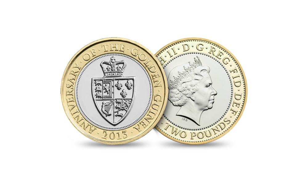 Guinea two pound coin designed and sculpted by Anthony Smith