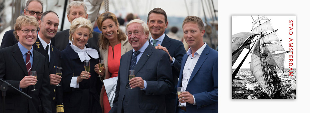 Launch party for the book Stad Amsterdam by Anthony Smith featuring Prince Maurits and the Mayor of Amsterdam